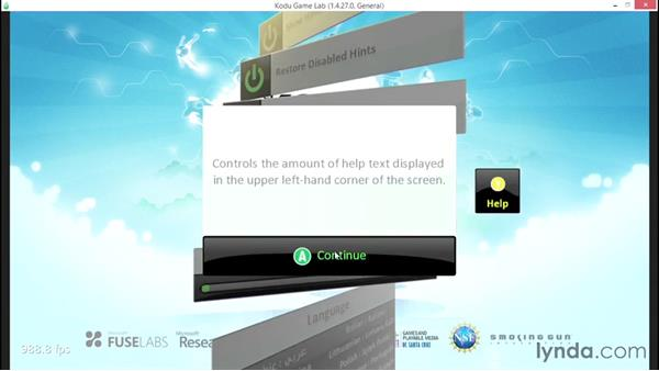Minimizing the screen help and hints: Learning Visual Programming with Kodu