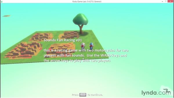 Adding an in-game countdown and description: Learning Visual Programming with Kodu