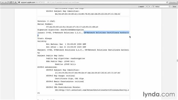 Reviewing provided certificates: Understanding Secure Sockets Layer