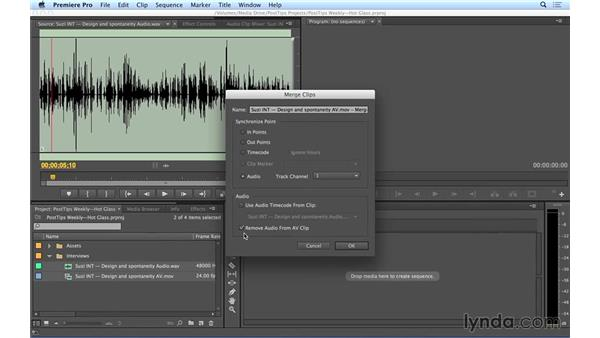 Syncing video to high-quality audio in Premiere Pro: Video Post Tips Weekly