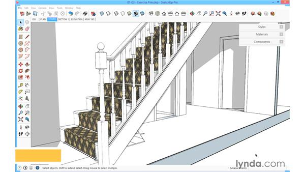 Using the exercise files: SketchUp for Architecture: Fundamentals