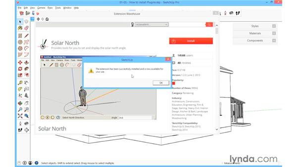 How to install plugins: SketchUp for Architecture: Fundamentals