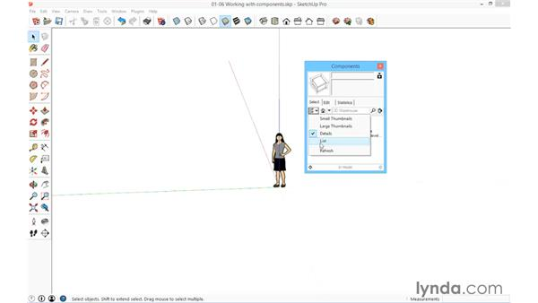 Understanding and loading components: SketchUp for Architecture: Fundamentals