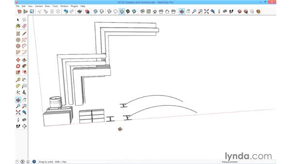 Sweeps and revolves: SketchUp for Architecture: Fundamentals