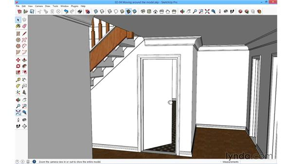 Moving around the model: SketchUp for Architecture: Fundamentals