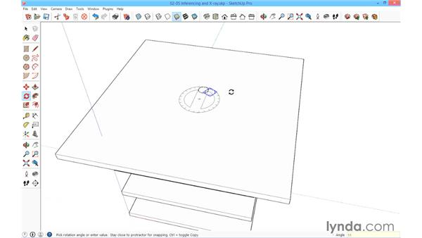 Inferencing and the power of X-ray vision: SketchUp for Architecture: Fundamentals