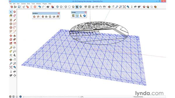 Draping the site: SketchUp for Architecture: Fundamentals