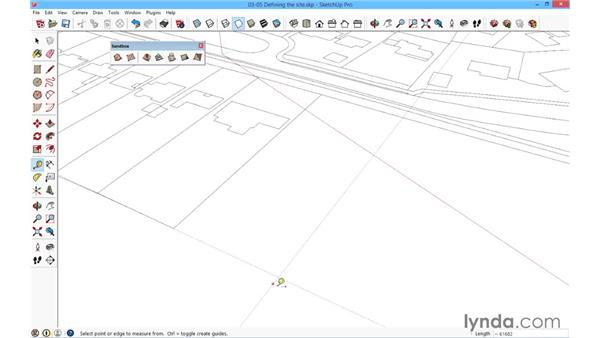 Defining the site boundary: SketchUp for Architecture: Fundamentals