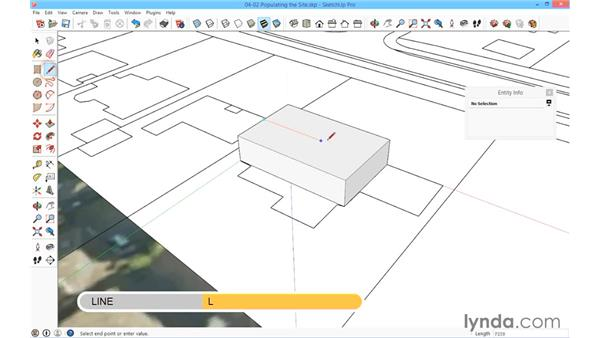 Populating the site: SketchUp for Architecture: Fundamentals
