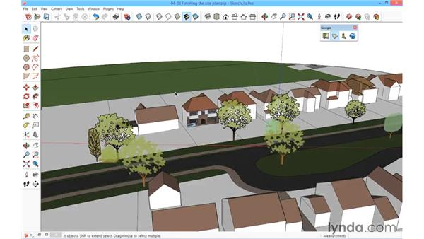 Finishing the site: SketchUp for Architecture: Fundamentals
