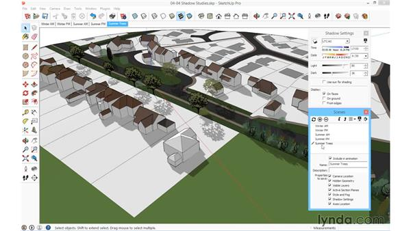 Shadow studies: SketchUp for Architecture: Fundamentals