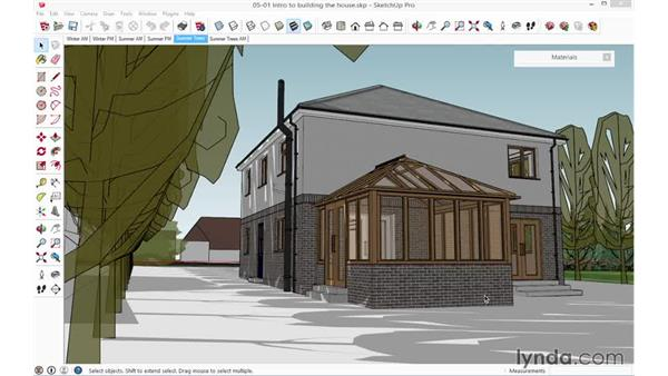 Introduction to building the house: SketchUp for Architecture: Fundamentals