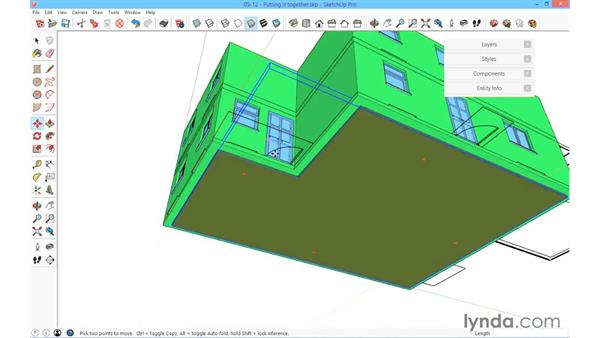 Putting it all together: SketchUp for Architecture: Fundamentals