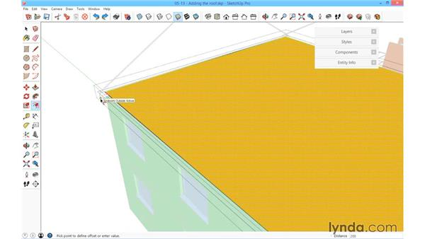 Adding the roof: SketchUp for Architecture: Fundamentals