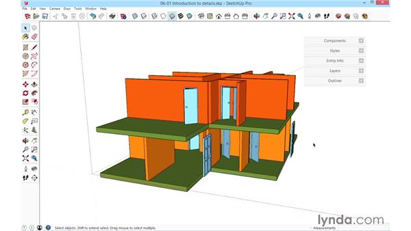 Introduction to details: SketchUp for Architecture: Fundamentals