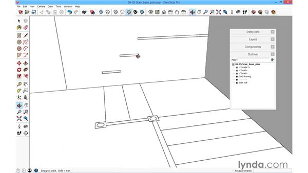 Stair base plan: SketchUp for Architecture: Fundamentals