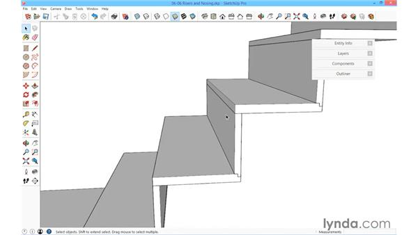 Risers and nosing: SketchUp for Architecture: Fundamentals