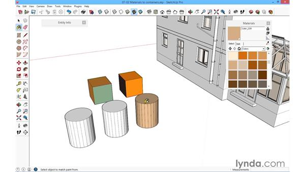 Materials to containers: SketchUp for Architecture: Fundamentals