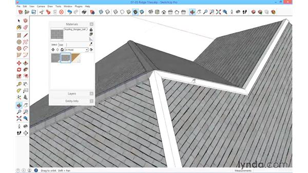 Ridge tiles: SketchUp for Architecture: Fundamentals