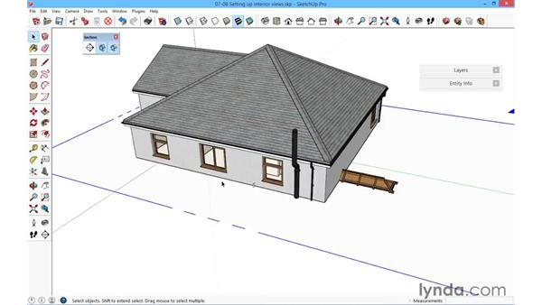 Setting up interior views: SketchUp for Architecture: Fundamentals