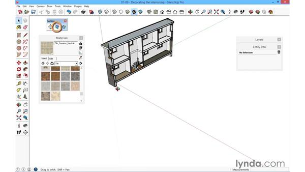 Decorating the interior: SketchUp for Architecture: Fundamentals