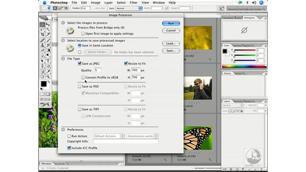 Batch processing with Image Processor: Enhancing Digital Photography with Photoshop CS2