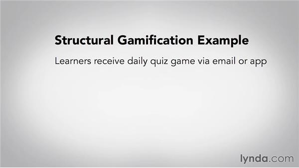 Structural gamification: Gamification of Learning