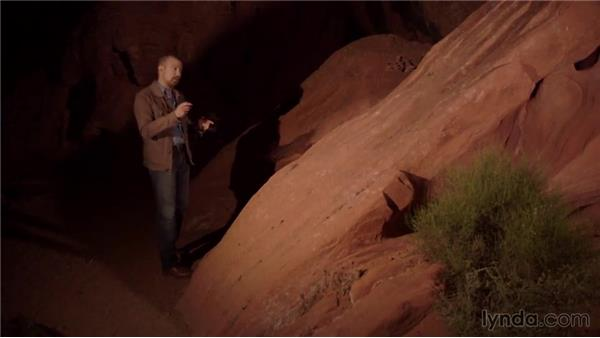 Light painting on a rock face: Photography 101: Shooting in Low Light