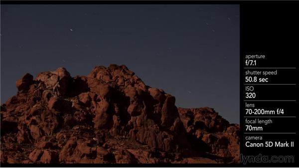 Balancing the moonlight and stars in a photo: Photography 101: Shooting in Low Light