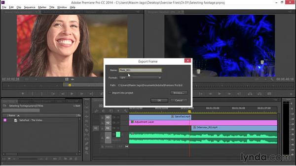 Selecting footage elements for graphics: EPK Editing Workflows 05: Titles, Graphics, and Output