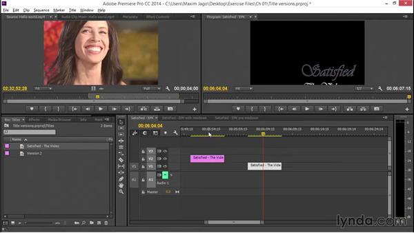 Managing title versions: EPK Editing Workflows 05: Titles, Graphics, and Output