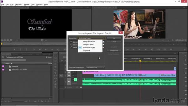 Integrating Photoshop into the workflow: EPK Editing Workflows 05: Titles, Graphics, and Output