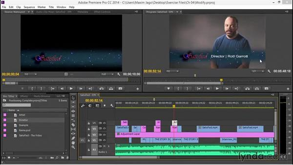 Modifying an existing Photoshop file: EPK Editing Workflows 05: Titles, Graphics, and Output