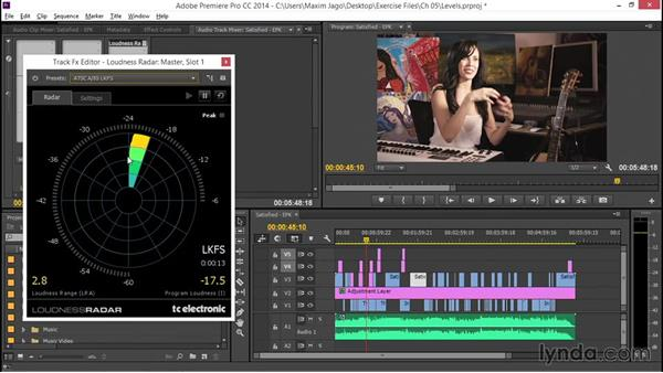Checking levels: EPK Editing Workflows 05: Titles, Graphics, and Output
