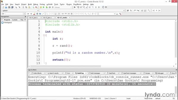 Making more calculations: Up and Running with C