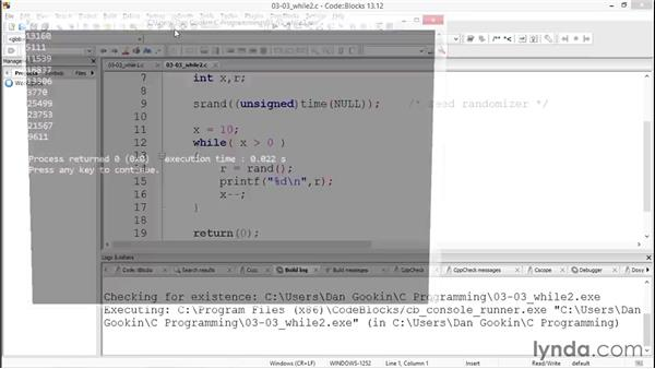 Looping with while: Up and Running with C