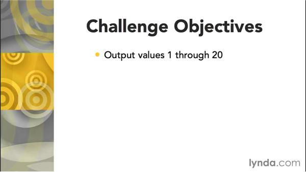 Challenge: Output a series of numbers: Up and Running with C