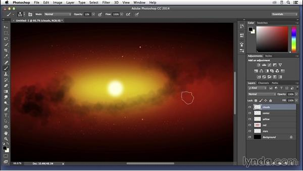 Creating a galaxy with Photoshop: Adding color and effects: Pixel Playground