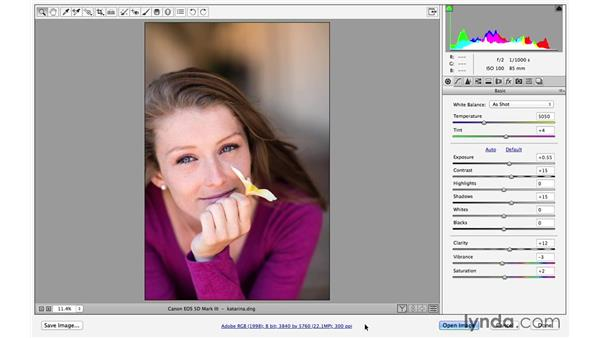 Saving and opening raw files in Photoshop (CC 2014.1): Photoshop CC for Photographers: Fundamentals