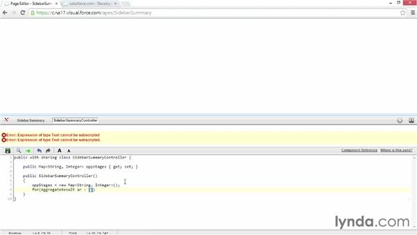 Adding Visualforce to the sidebar: Developing with Visualforce