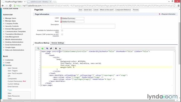 Solution: Add custom styling to a sidebar page: Developing with Visualforce