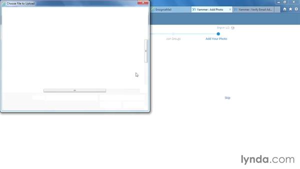 Setting up a new Yammer network: Yammer Essential Training
