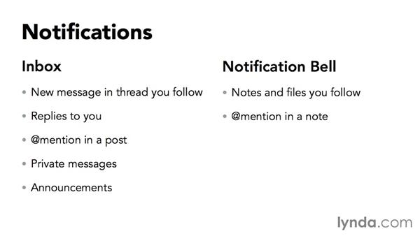 Viewing notifications: Yammer Essential Training