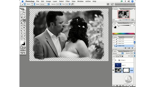 Custom borders 1: Enhancing Digital Photography with Photoshop CS2