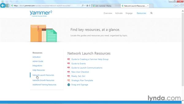 Next steps: Yammer Essential Training