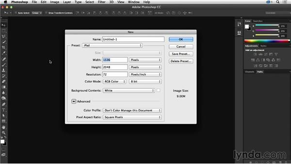 How to create your own document presets in Photoshop: Creative Quick Tips