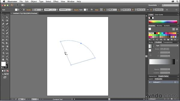 Working with the Curvature tool (CC 2014.1): Illustrator CC Essential Training (2013)