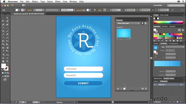Creating and using design libraries (CC 2014.1): Illustrator CC Essential Training (2013)