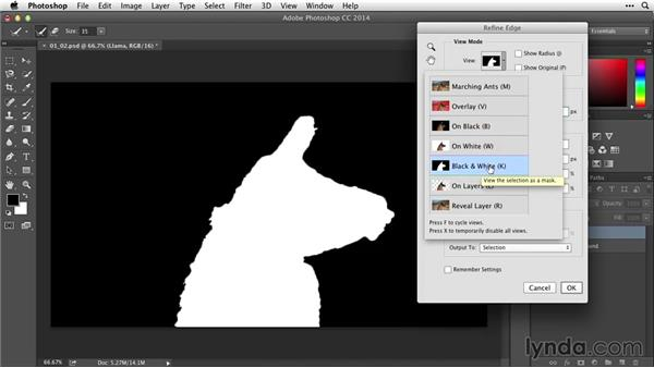 Creating masks with selections and Refine Edge: After Effects Guru: Working with Photoshop Files