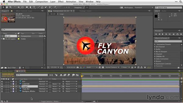 Working with layer styles and vector shapes: After Effects Guru: Working with Photoshop Files